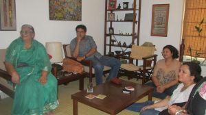 At Neeraj and Javed's residence