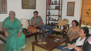 At Neeraj and Javed's residence